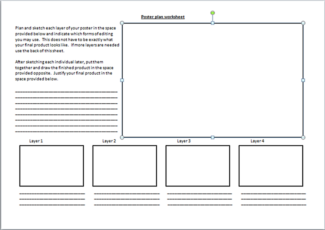 Appendix C Poster Plan Worksheet – Change Plan Worksheet